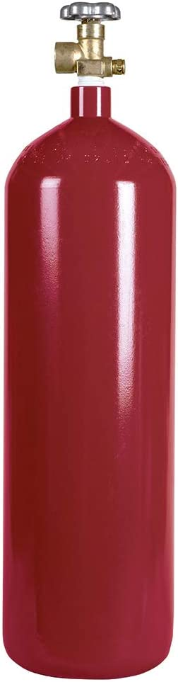New 60 cu ft Steel Inert Gas Cylinder with CGA580 Valve - Helium, Nitrogen, Argon, CO2/Nitrogen Mix
