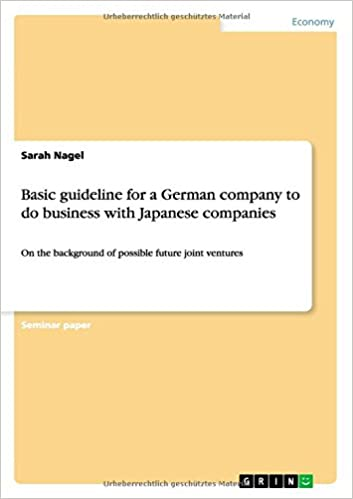 Basic guideline for a German company to do business with Japanese companies