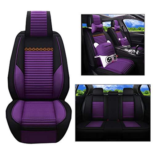 Juego de asientos para automóvil, cojín interior del asiento del automóvil de tela plana, parte delantera y trasera con...