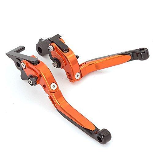 FXCNC Racing Billet Folding Erweiterbar Einstellbare Bremskupplungshebel Set Paar fit f/ür KAWASAKI Z800//E version 2013-2016 Z750 2007-2012