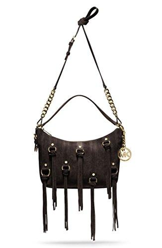 - MICHAEL KORS Presley Medium Convertible Suede Shoulder Bag (Coffee)