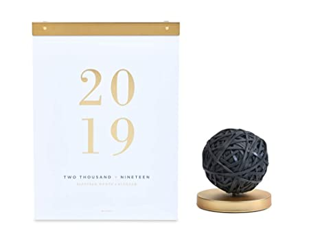 Emory Calendar.West Emory Modern White 2019 Wall Calendar With Black Rubber Band