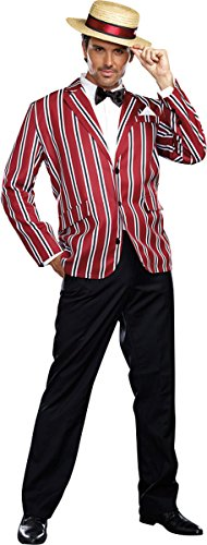 (Dreamgirl Men's Good Time Charlie 1920s Style Costume, Multi,)