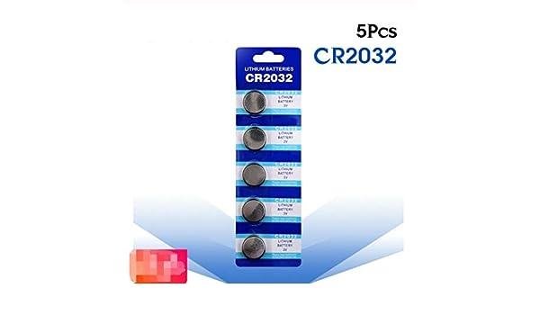 No logo 5pcs CR2032 Pilas de botón BR2032 DL2032 ECR2032 batería ...