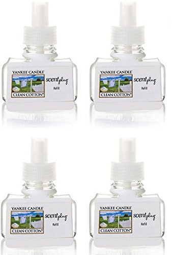 Yankee Candle Clean Cotton ScentPlug Refill 4-Pack by Yankee Candle