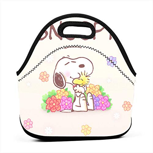 (LIUYAN Personalized Insulated Lunch Bag Snoopy Reusable Snack Bags for Adults and Kids)
