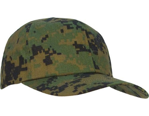 Kids Digital Woodland Camouflage Baseball Cap ()