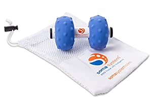 Soma System Portable Muscle Massage Roller [Firm]. Excellent Tool for Self-Myofascial Release, Deep Tissue, Trigger Point, and Physical Therapy, Neck and Back Pain Relief, Cross Fit, Pilates