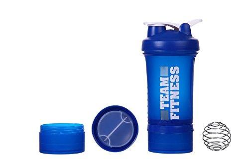 Ishake Easy Stack Shaker Bottle 500 ml , (Blue)
