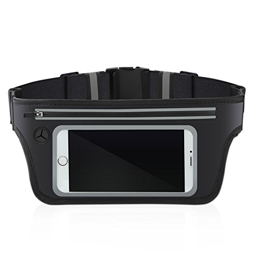 Running belt, Slim Waist Pack With Touchscreen Window for Hiking Fitness,Runner Workout Belts and All Kinds Of SmartPhones Best Inner Ear Headphones
