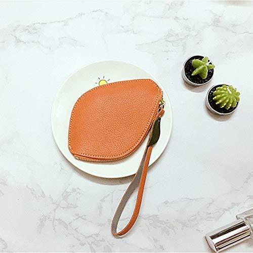 Color : Green YOIOY Envelope Clutch Bag Coin Purse Student Korean Cute Mini Lemon Harajuku Retro Wallet Female Color : Black