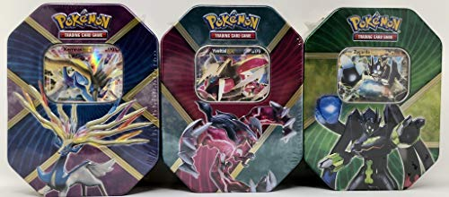 (Pokemon Shiny Kalos EX Tins TCG Game 2016 - All 3 TINS Xerneas, YVeltal, & Zygarde!)