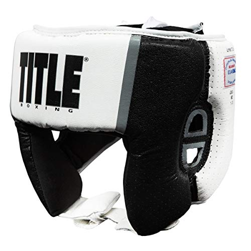 Title Boxing Aerovent USA Boxing Competition Headgear (Open Face), White, Large