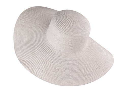 Creamy Color Sunhats Straw Floppy Straw Hat Wide Brimmed Beach Hat for - Hepburn Face Shape Audrey