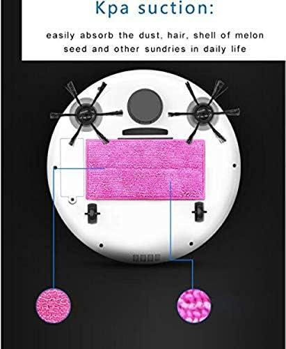 GSWF_OOEFC XXFFD Robot aspirateur Nettoyeur de Sol Intelligent Multifonctionnel 3-en-1 Nettoyeur de Balayage Humide Sec Rechargeable Automatique