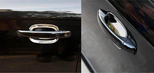 ABS Chrom/é Poign/ée de porte lat/érale Couvercle de bol Trim 4 pcs pour accessoire de voiture ADQ3
