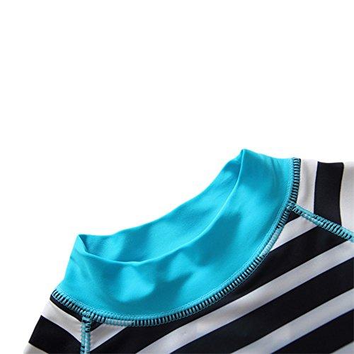 Baby Kid Boys Stripe Bathing Suit Rash Guards Swimsuit UV Sun Protective Surfing Suit UPF 50+