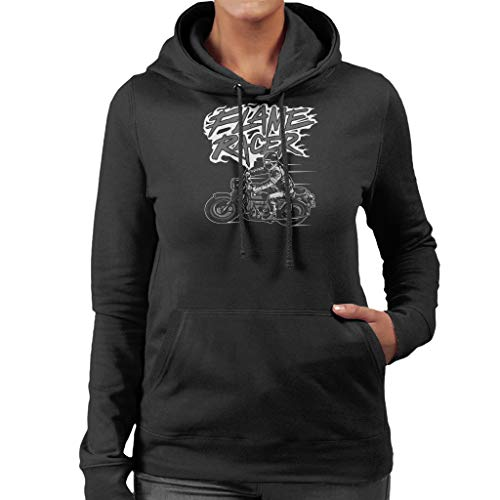 Sweatshirt Black Racer Flame Women's Coto7 Hooded qSfvv