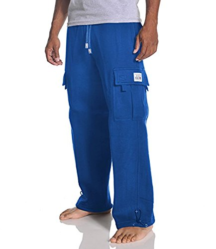 (Pro Club Men's Heavyweight Fleece Cargo Pants, 2X-Large, Royal Blue)