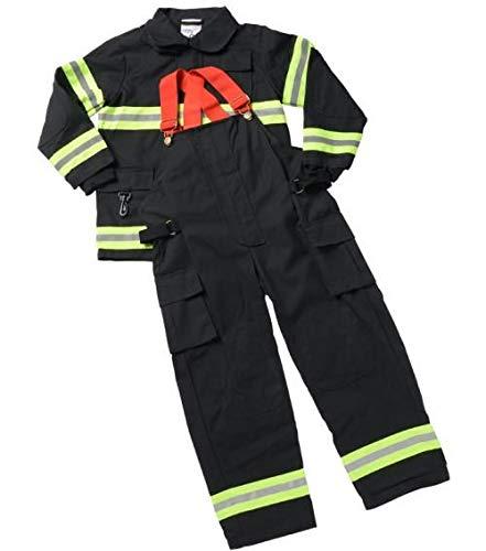 Jr. Firefighter Suit, Size 2/3 (Black) (Choice of Helmet Sold Separately) ()