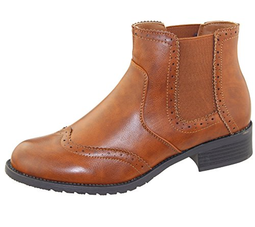 Womens Shoes Casual Top Ankle Elasticated Riding Chelsea Size Ladies Boots Camel High rrqwaz