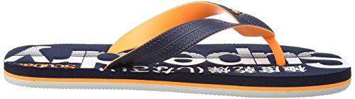 Superdry Herren Scuba Zehentrenner Multicolore (Dark Navy/Fluro Orange/Optic)