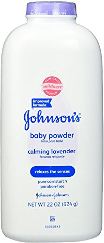 JOHNSON'S Baby Powder Calming Lavender 22 oz (12 Pack) by Johnson