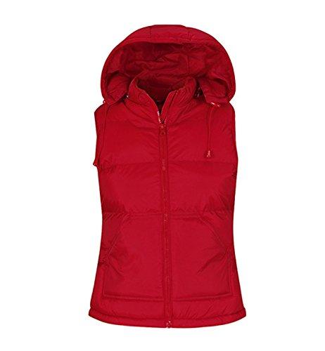 rojo Bodywarmer transpirable para Chaleco mujer acolchado 1OZSqS