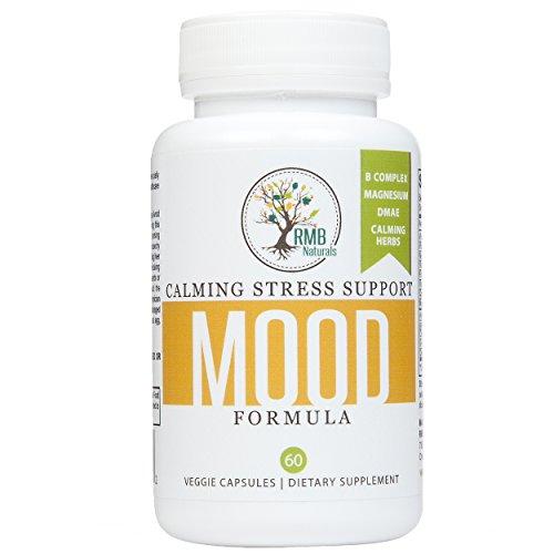 Anti Stress humeur formule. Améliorer votre humeur. Anxiété Support - drogue libre avec le 5-HTP & magnésium. Veggie 60 Capsules RMB Naturals