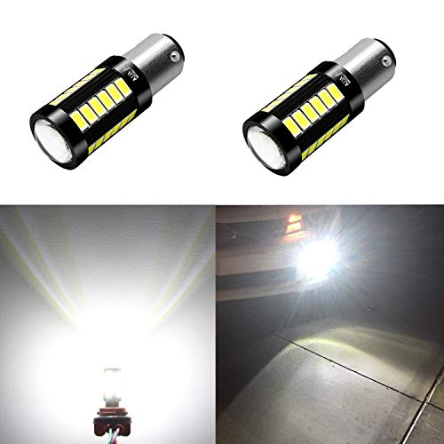 (Alla Lighting 2800lm 7528 1157 LED White LED Bulbs Xtreme Super Bright BAY15D 2057 1157 LED Bulb 5730 33-SMD LED 1157 Bulb for Back-Up Reverse/Turn Signal/Brake Stop Tail Lights, 6000K)