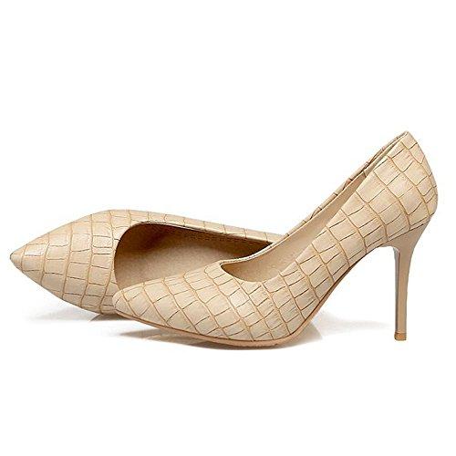 Eclimb Donna Classica Moda Stiletto Scarpe A Punta Tacco Alto Scarpe Pompa Albicocca