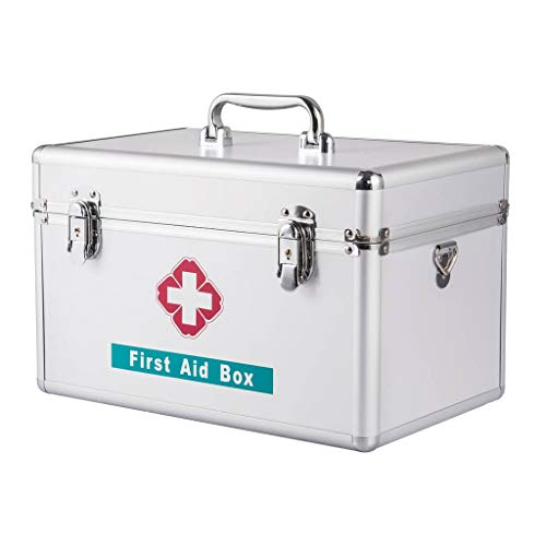 First Aid Case Medicine Storage Family Loaded Large Capacity Emergency Treatment First Aid Medicine Storage Box with Shoulder Strap Handle ZHAOSHUNLI (Size : 14'') ()