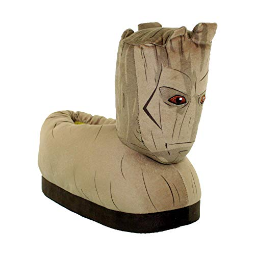 7707-4 - Marvel Guardians of The Galaxy - Groot Slippers - X-Large/XX-Large - Happy Feet Mens and Womens Slippers