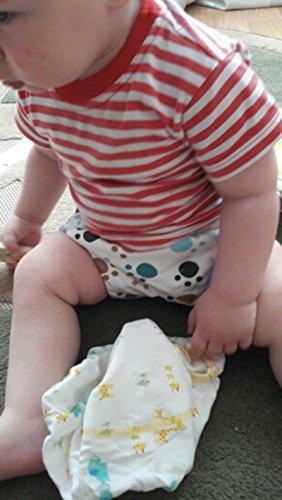 HaimoBurg Confezione da 6 Impermeabili Cotone Mutandine di Apprendimento per Bambino (1-2 Anni, A) 6