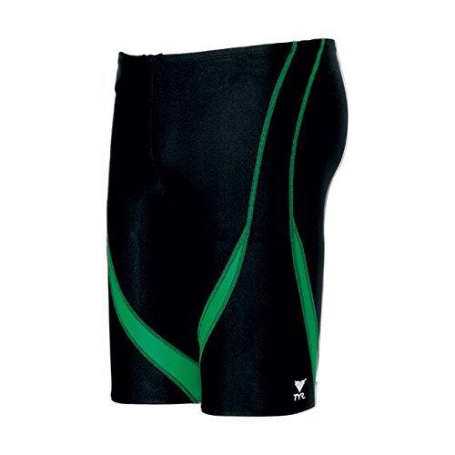 TYR Alliance Splice Jammer Swimsuit, Black/Green, Size 34   B0153XSBK4