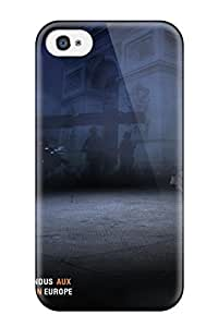 Premium Durable Battlefield 3 French Commander Fashion Tpu Iphone 4/4s Protective Case Cover