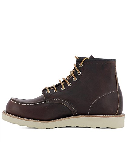 Cuir Marron Bottines Homme Wing Red 08138 zCqfwg