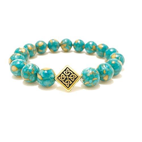 Mosaic Turquoise Magnesite Stretch ()