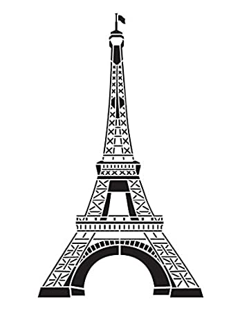 photograph regarding Printable Eiffel Tower identified as Eiffel Tower Stencil by means of StudioR12 French Push Artwork - Reusable Mylar Template Portray, Chalk, Blended Media Seek the services of for Creating, Do it yourself Dwelling Decor -