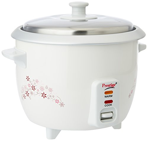 Prestige Delight PRWO 1.0 1-Litre Electric Rice Cooker (White)