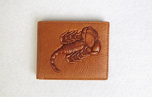 Scorpion Compressor (JD Million shop Scorpion pattern wallet men Cool wallets leather genuine Top Quality Assurance male)