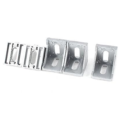 Amazon.com: eDealMax 5 piezas DE 40 mm x 40 mm 90 Grado Muebles puerta de esquina Brace soporte en ángulo: Electronics