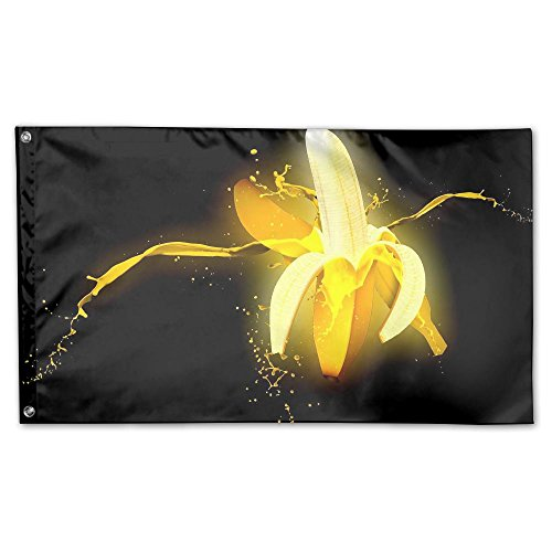 Colby Keats Gleamy Banana Garden Lawn Flags Indoor Outdoor Decoration Home Banner Polyester Sports Fan Flags 3 X 5 Foot