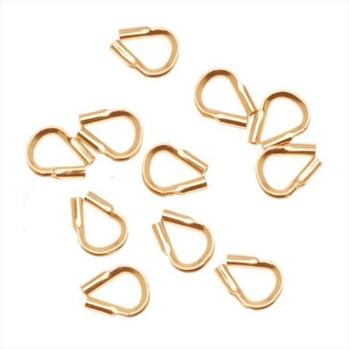 Beadaholique Wire & Thread Protectors.019 Inch Loops, 10 Pieces, 14K Gold Filled