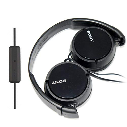 Apple Portable Headphones - SONY Over Ear Best Stereo Extra Bass Portable Headphones Headset for Apple iPhone iPod/Samsung Galaxy / mp3 Player / 3.5mm Jack Plug Cell Phone with Mic (Dark Gray)
