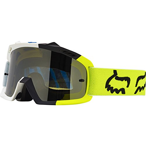 - Fox Racing Air Space Creo Youth Moto Motorcycle Goggles Eyewear - White/Yellow / No Size