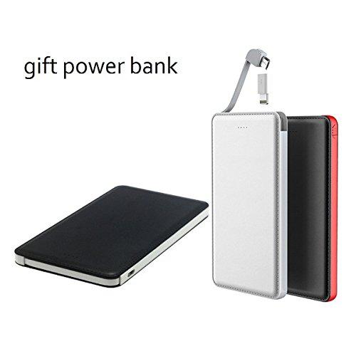 Super Slim 5000mAh Power Bank (White) - 6
