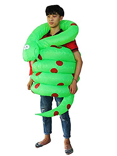 Seasonblow Inflatable Snake Costume Adult Halloween Costumes Suit for Mens & -