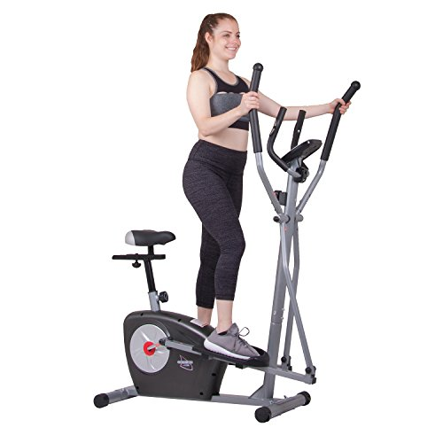 Elliptical Trainer and Exercise Bike with Seat and Heart Rate Pulse Sensors Dual Trainer BRM3635 Cardio Upper and Lower Full Body Workout Multi Trainer by Body Rider by Body Rider