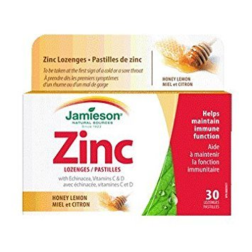 Zinc Lozenges with Echinacea and Vitamin C - Lemon-30 Lozenges Brand: Jamieson Laboratories